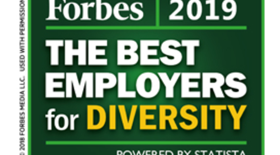 In 2019 Named One Of Forbes Best Employers For Diversity